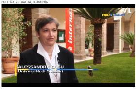 Alessandra Casu durante l'intervista